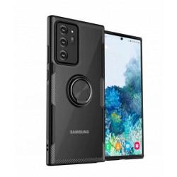 Samsung Note 20 Ultra Stöttåligt Skal med Ringhållare V4 Black