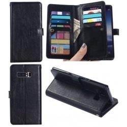 Samsung Note 8 Praktisk Plånboksfodral med 11-Fack Array® Svart
