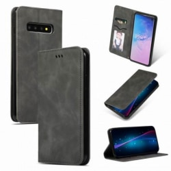 Samsung S10 Flipfodral Kortfack Mocka® Svart