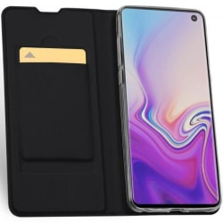 Samsung S10 Flipfodral Smooth® Kortfack (SM-G973F) Black
