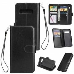 Samsung S10 Plus Praktisk Plånboksfodral med 10-Fack Array® Svart