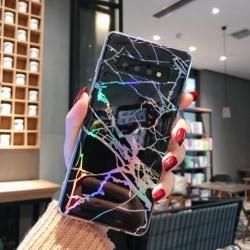 Samsung S10 Plus Stötdämpande Marmorskal Lazr® (SM-G975F) Svart