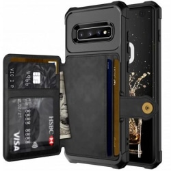 Samsung S10 Plus Stöttåligt Premium Skal 4-FACK Solid® V3 Svart