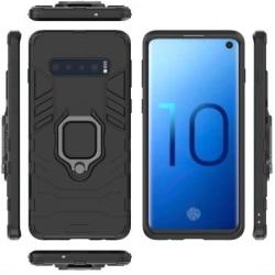 Samsung S10 Plus Stöttåligt Skal med Ringhållare ThinArmor® (SM- Svart