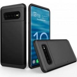 Samsung S10 Stöttåligt Skal Kortfack StreetWise® Svart