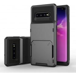 Samsung S10 Stöttåligt Skal med Kortfack Void® Svart