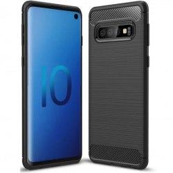 Samsung S10 Stöttåligt Stötdämpande Skal SlimCarbon® Svart