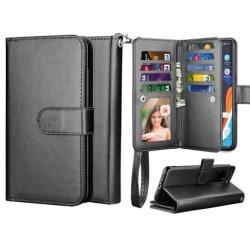 Samsung S20 Praktiskt Plånboksfodral 2in1 med 11-Fack Loop® Svart