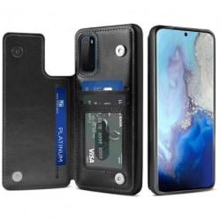 Samsung S20 Stöttåligt Skal Korthållare 3-FACK Flippr® Svart