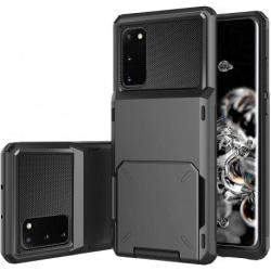Samsung S20 Stöttåligt Skal med Kortfack Void® Black