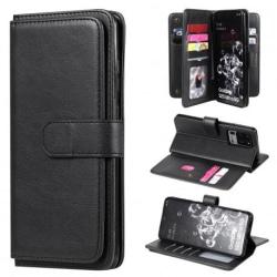 Samsung S20 Ultra Praktisk Plånboksfodral med 11-Fack Array® V2 Svart