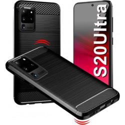 Samsung S20 Ultra Stöttåligt Skal SlimCarbon® Black