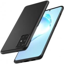 Samsung S20 Ultratunn Gummibelagd Mattsvart Skal Basic® V2 Svart