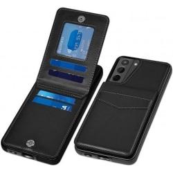 Samsung S21 Mobilskal Korthållare 5-FACK Retro® V3 Svart