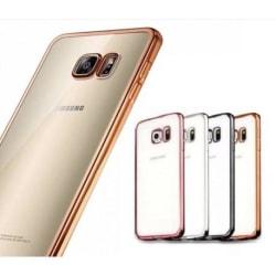 Samsung S6 Edge Stötdämpande Gummiskal Guld