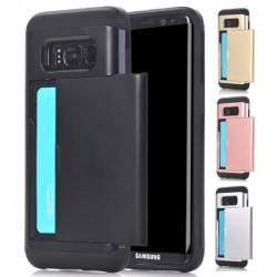 Samsung S8 Stöttåligt Skal Kortfack StreetWise® Svart