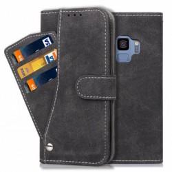 Samsung S9 Praktisk Plånboksfodral med 7-FACK Pharah® Svart