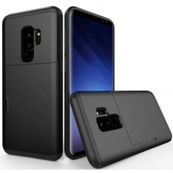 Samsung S9 Stöttåligt Skal Kortfack StreetWise® Svart