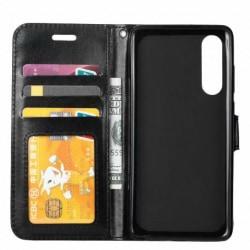 Sony Xperia 5 Plånboksfodral PU-Läder 4-FACK Svart
