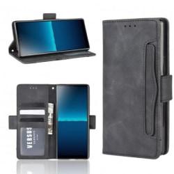 Sony Xperia L4 Plånboksfodral PU-Läder 6-FACK Winston® V3 Svart