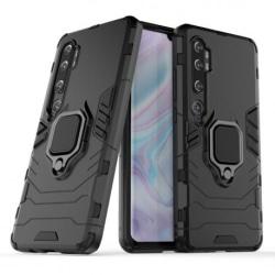 Xiaomi Mi Note 10 Stöttåligt Skal med Ringhållare ThinArmor® Black