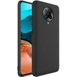 Xiaomi Poco F2 Pro Ultratunn Gummibelagd Mattsvart Skal Basic® V Svart