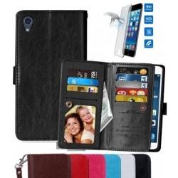 Xperia M4 Aqua Praktisk Plånboksfodral med 11-Fack Array® Vit
