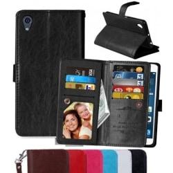 Xperia X Praktisk Plånboksfodral med 11-Fack Array® Svart