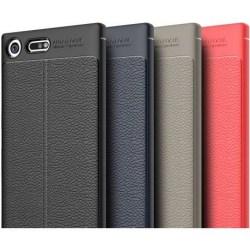 XZ Premium Stöttåligt & Stötdämpande Skal LeatherBack® Svart