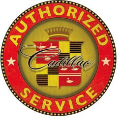 Cadillac dekal, finns i 5 storlekar 21 cm i diameter