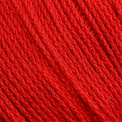 Merc. Cablé 12/6 Virkgarn Röd Röd