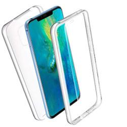 360 Grad Skydd för Huawei Mate 20 Pro Telefon Gummi Genomskinlig Transparent