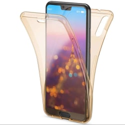 360 Grad Skydd för Huawei P30 Stötsäker Mobilskal Telefon Genoms Guld