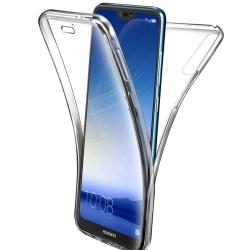 360 Grad Skydd för Huawei Y5 (2019) Mobilskydd Silikon Genomskin Transparent
