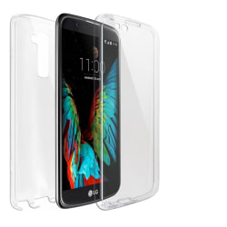 360 Grad Skydd för LG K10 Mobilskydd Gummi Stötsäker Genomskinli Transparent