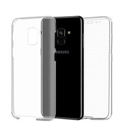 360 Grad Skydd för Samsung Galaxy A8 (2018) Genomskinligt Siliko Transparent