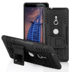 Antislip fodral för Sony Xperia XZ3 Hård-Plast Kickstand Halksky Svart
