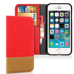 Apple iPhone 5 / 5s / SE TPU Magnet Telefon Stötsäker Mobilskydd Röd