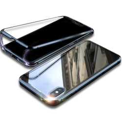 Armor Skal för Apple iPhone X / XS Skyddsglas Aluminium Metall B Svart