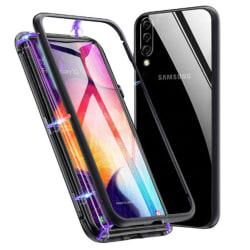 Armor Skal för Samsung Galaxy A50 Aluminium Metall Härdat Glas H Svart