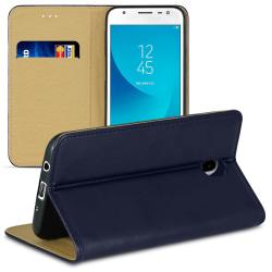 Bokväska med kortfack för Samsung Galaxy  J5 (2017) J530 Plånbok Blå