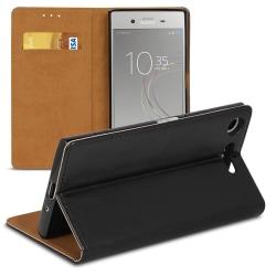 Bokväska med kortfack för Sony Xperia XZ1 Compact Plånbok TPU Mi Svart