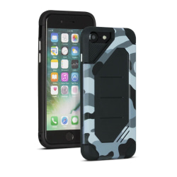 Camouflage fodral för Apple iPhone 7 / 8 Kamouflagedesign Hårt K Silver