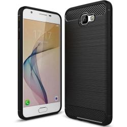 Enfärgat Kolfiber Skal för Samsung Galaxy J7 Prime 2 Armor Telef Svart