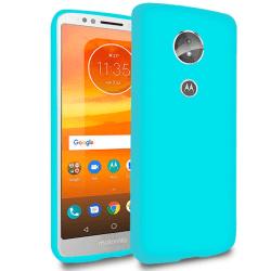 Enfärgat Mjukt Skal för Motorola Moto E5 Stötsäker Telefon Silik Turkos