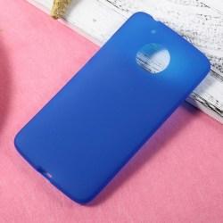 Enfärgat Mjukt Skal för Motorola Moto G5 Plus Lätt Gummi Mobil S Blå