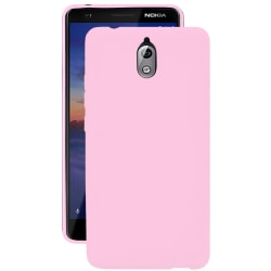 Enfärgat Mjukt Skal för Nokia 3.1 Stötsäker Tunnt Mobilskal Rosa Rosa