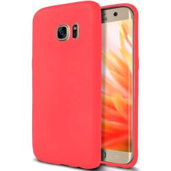 Enfärgat Mjukt Skal för Samsung Galaxy S6 Ultra-Slim Gummi Röd Röd