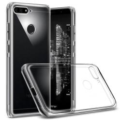 Enfärgat Transparent Mjukt Skal för Huawei Y6 (2018) Gummi S Kla Transparent