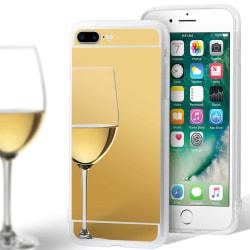 Glänsande Spegel Skal för Apple iPhone 7 Plus / 8 Plus Mirror Si Guld